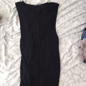Brandy Melville Black Wide-Opened Sleeveless Top